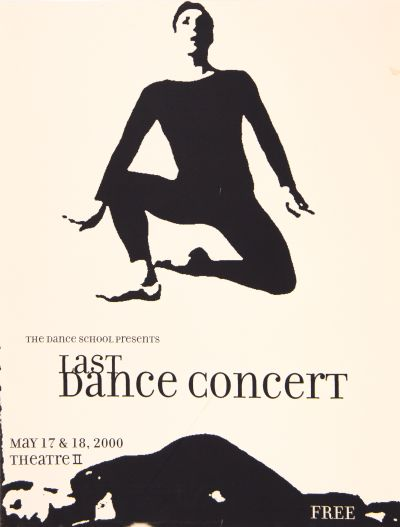 CalArts poster: 2000 Last Dance Concert by