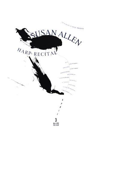 CalArts poster: Susan Allen, Harp Recital by Jani Soderlund