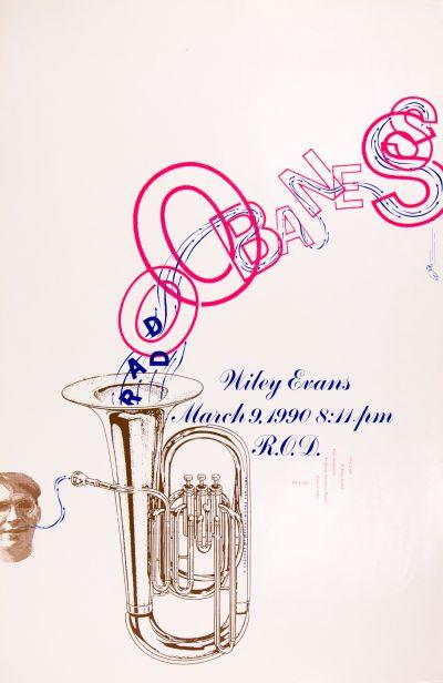 CalArts poster: Wiley Evans by Barbara Glauber Kali Nikitas