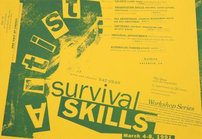 CalArts poster: Artist Survival Skills by Gail Swanlund