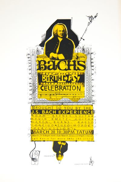 CalArts poster: Bach's Birthday Celebration by Christopher Selby