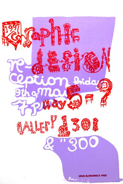 CalArts poster: 1997 Graphic Design Exhibition by David Blanchard