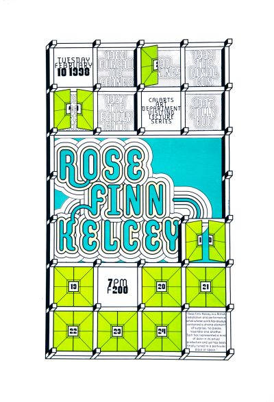 CalArts poster: Rose Finn Kelcey by Andrea Tinnes