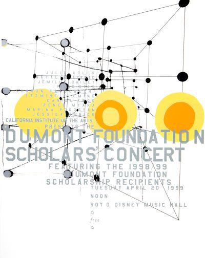CalArts poster: Dumont Foundation Scholars Concert by Sophie Dobrigkeit