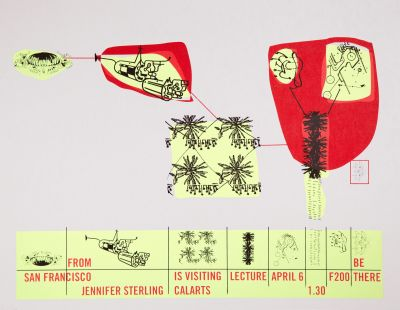 CalArts poster: Jennifer Sterling by Juliette Bellocq