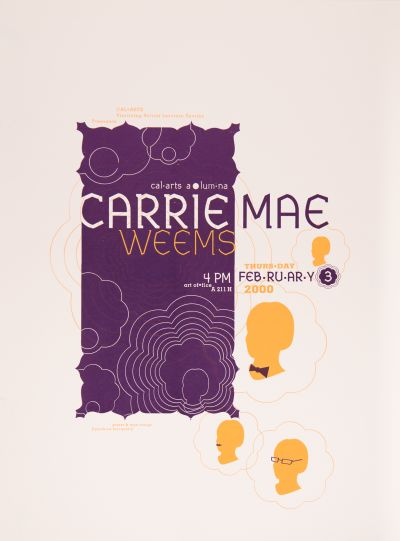 CalArts poster: Carrie Mae Weems by Cynthia Jacquette Hopkins