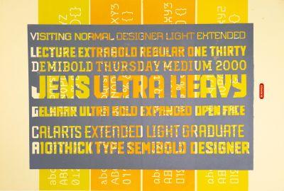 CalArts poster: Jens Gelhaar Typeface by Michael Kohnke