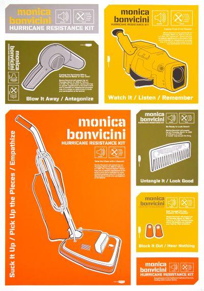 CalArts poster: Monica Bonvicini: Hurricane Resistance Kit by John Kieselhorst