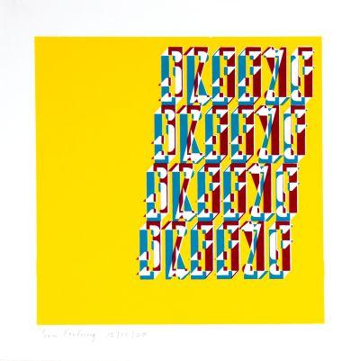 CalArts poster: Type Specimen Poster by Samuel Farfsing