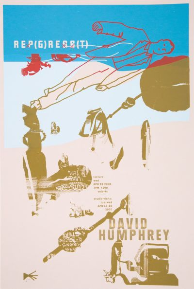 CalArts poster: David Humphrey by Sophie Dobrigkeit