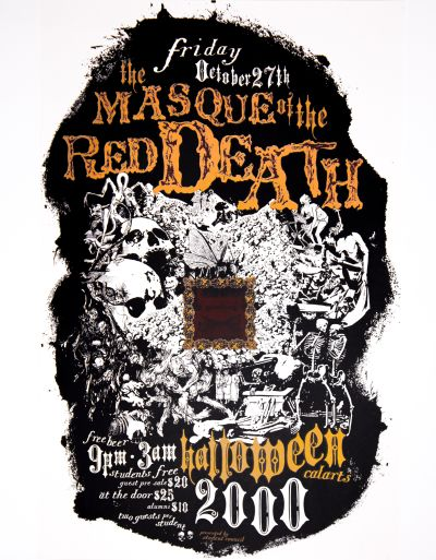 CalArts poster: 2000 CalArts Halloween: The Masquerade of the Red Death by Andrew Jonez Mike Machin