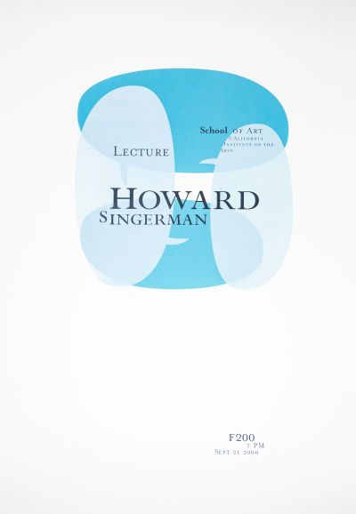 CalArts poster: Howard Singerman by Grace Kendall Jowee Alviar