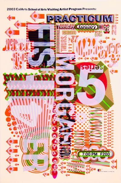 CalArts poster: 2003 Practicum Series 5/6 by Jae-Hyouk Sung Matthew Normand