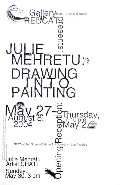 CalArts poster: REDCAT: Julie Mehretu – Drawing Into Painting by