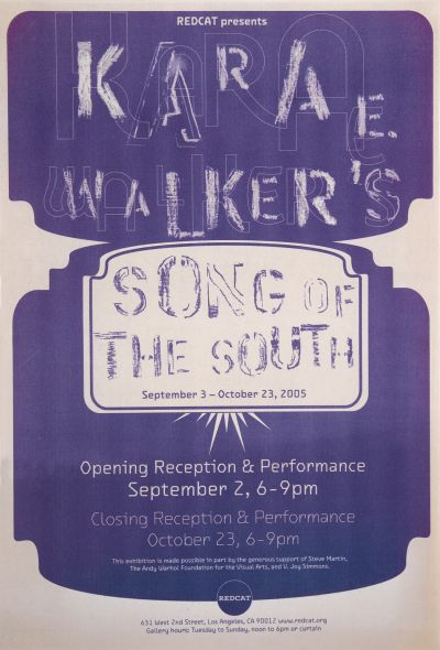 CalArts poster: REDCAT: Karae Walker's Song of the South by