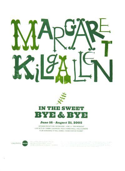CalArts poster: REDCAT: Margaret Kilgallen by