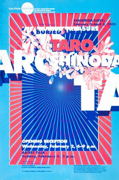 CalArts poster: REDCAT: Taro Shinoda – Buried Treasure by Eli Carrico Yasmin Khan