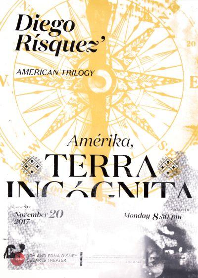 CalArts poster: REDCAT: Terra Incognita by Alex Cheng