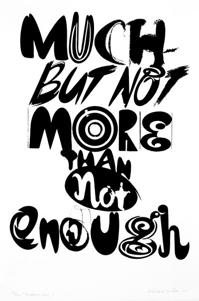 CalArts poster: Much But Not More Than Not Enough by Ed Fella