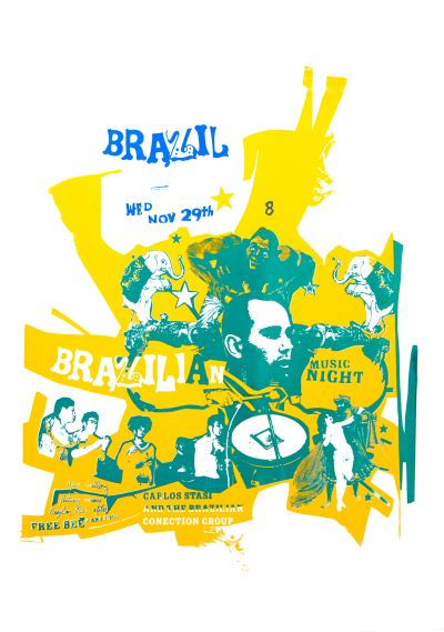 CalArts poster: Brazilian Music Night by David Vegezzi