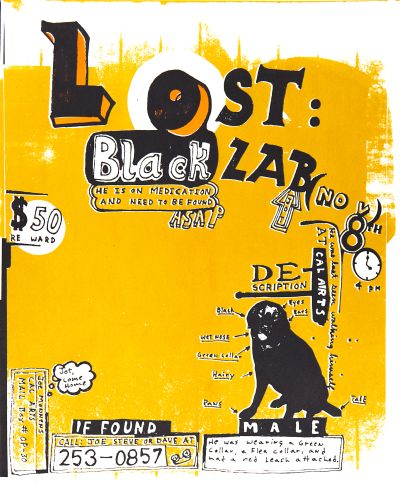 CalArts poster: Lost Black Lab by Joseph Monnens