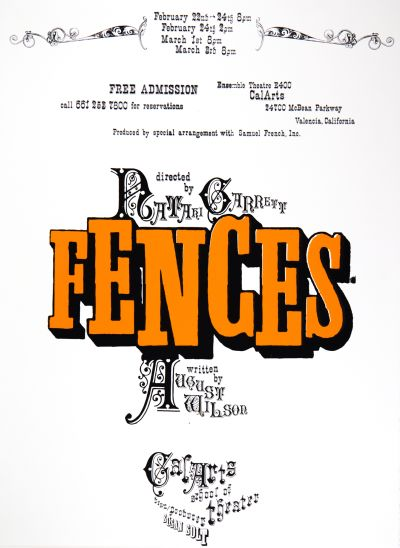 CalArts poster: Fences by Mike Machin