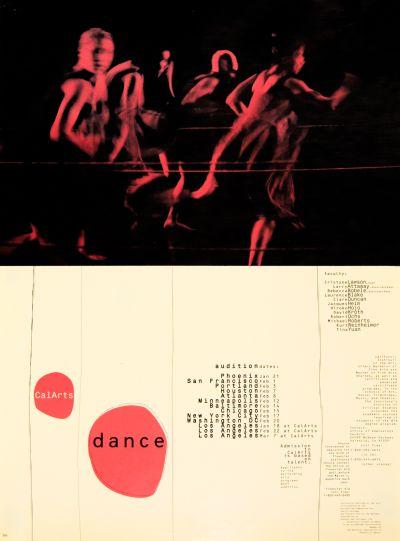 CalArts poster: CalArts Dance by Caryn Aono