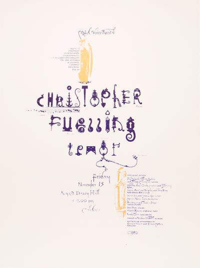 CalArts poster: MFA Voice Recital: Christopher Fuelling by Peter Mühlfriedel
