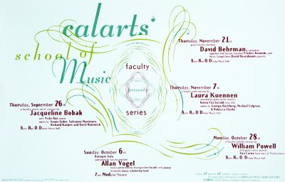 CalArts poster: CalArts School of Music: Faculty Series by Michael Polish Scott Wallin Susan LaPorte