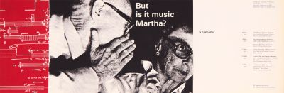 CalArts poster: But Is It Music Martha? by Tim Shea