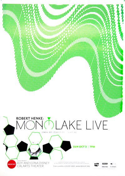 CalArts poster: REDCAT, Robert Henke: Monolake Live by Alejandro Hernandez Phil Shaw
