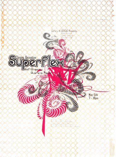 CalArts poster: REDCAT: Superflex by Allbriton Robbins