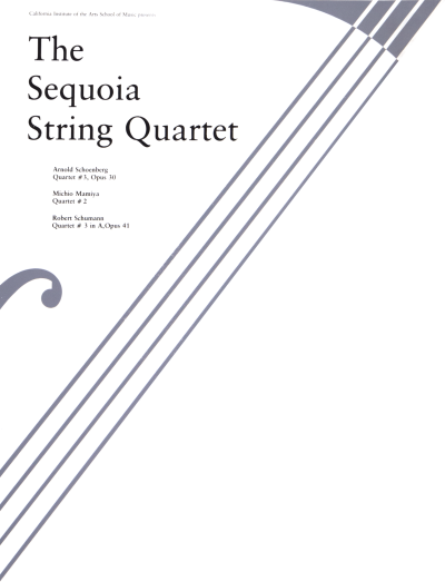 CalArts poster: The Sequoia String Quartet by
