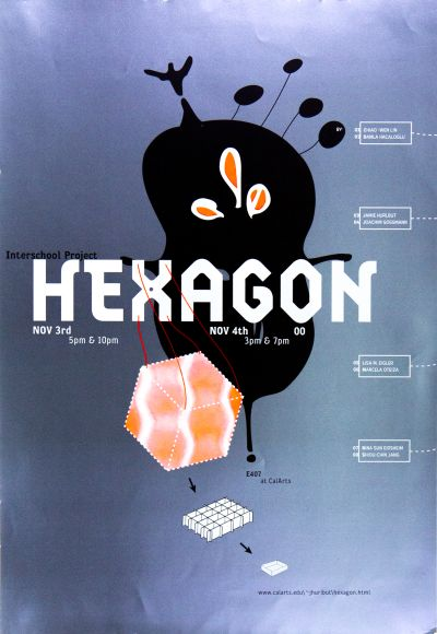 CalArts poster: Interschool Project: Hexagon by Suthada Wadkhien