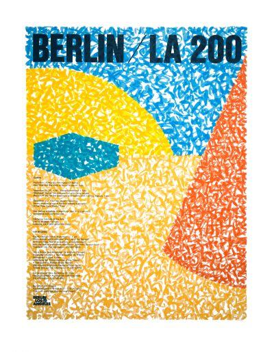 CalArts poster: Berlin / LA 200 by John Todd Cleveland