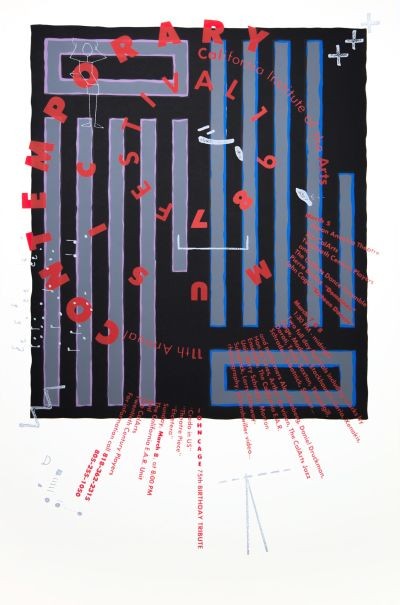 CalArts poster: Contemporary Music Festival 1987 by Alfred Davis Neil Kellerhouse
