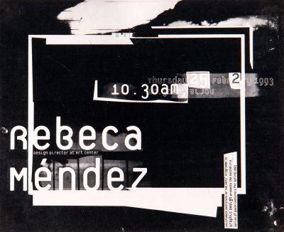 CalArts poster: Rebeca Méndez by Conor Mangat