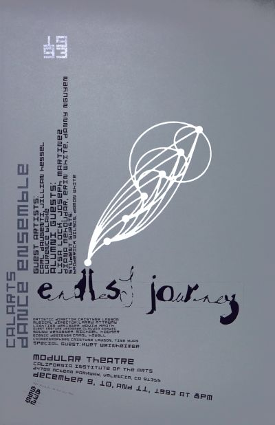 CalArts poster: CalArts Dance Ensemble: Endless Journey by Michael Worthington