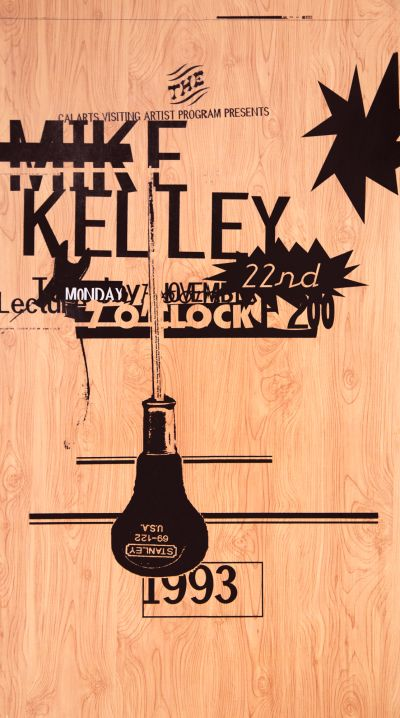 CalArts poster: Mike Kelley by Deborah Littlejohn