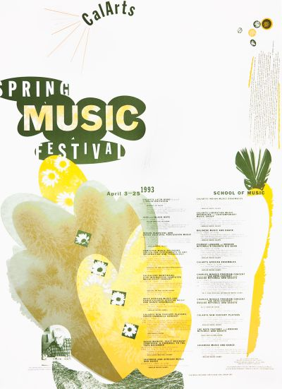 CalArts poster: 1993 Spring Music Festival by Gail Swanlund