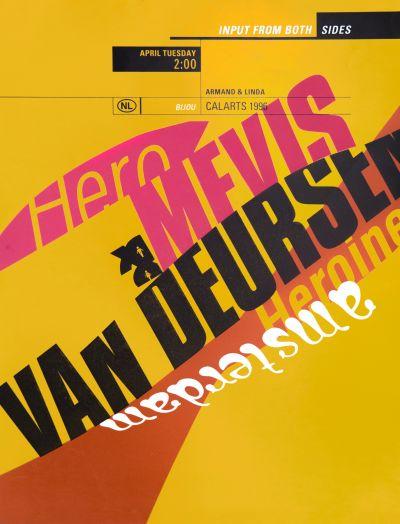 CalArts poster: Input From Both Sides by Beth Elliott Denise Gonzales Crisp Weston Bingham
