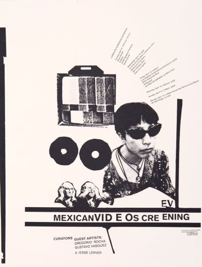 CalArts poster: Mexican Video Screening by David Vegezzi