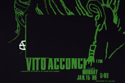 CalArts poster: Vito Acconci by Denise Gonzales Crisp