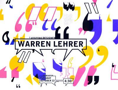 CalArts poster: Warren Lehrer by Amanda Washburn Bele Ducke