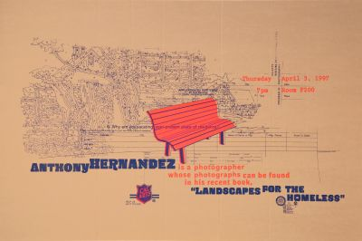 CalArts poster: Anthony Hernandez: Landscape for the Homeless by Jens Gehlhaar