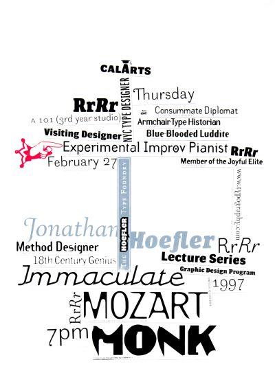CalArts poster: Jonathan Hoefler by Jens Gehlhaar