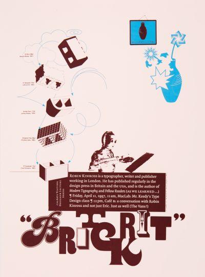 CalArts poster: Robin Kinross by Andrea Tinnes Jens Gehlhaar Pirco Wolframm