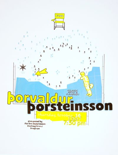 CalArts poster: Porvaldur Porsteinsson by Andrea Tinnes