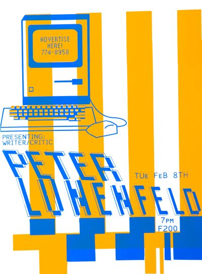 CalArts poster: Peter Lunenfeld by Chy Lin