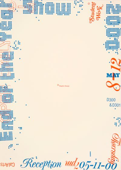 CalArts poster: 2000 End Of The Year Show by Petra Michel
